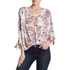 Free People Floral Keepin' On T-Shirt size S
